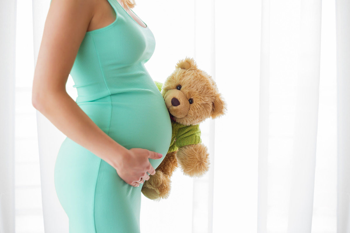 pregnant woman with teddy bear - My Pregnancy after Loss Bill of Rights