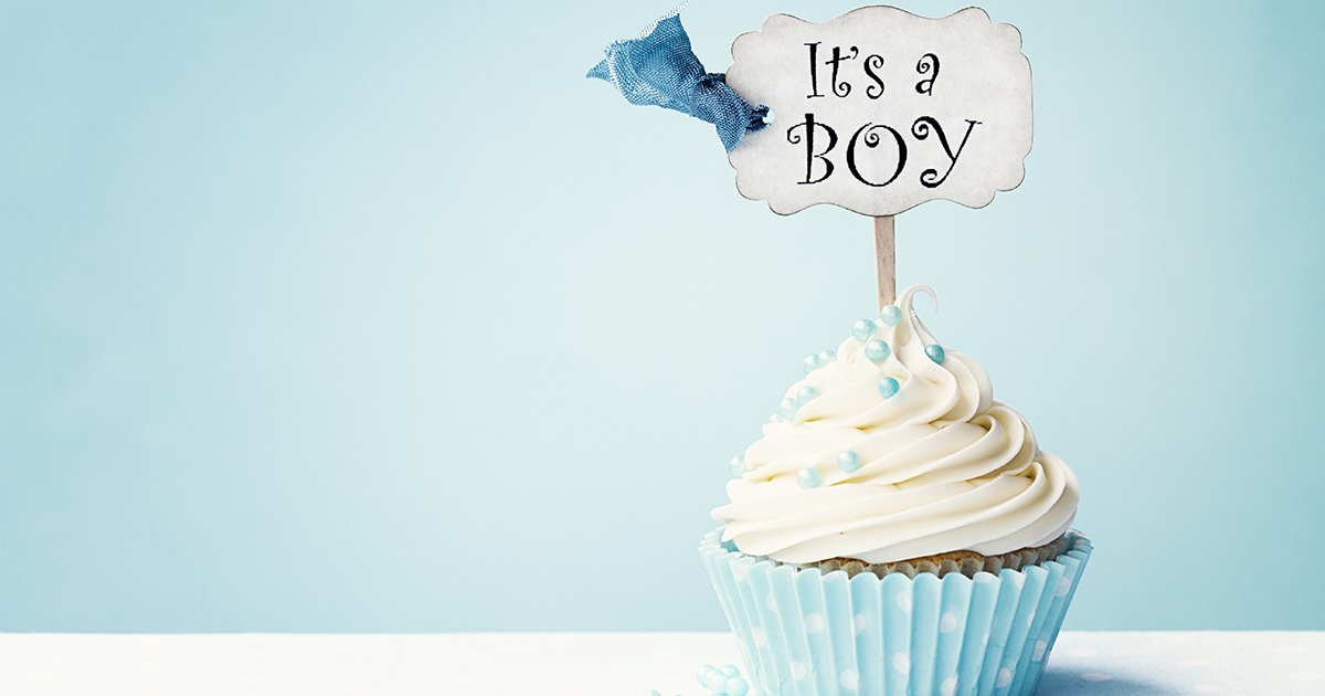 """""""It's a boy"""" cupcake - Guilty Disappointment"""