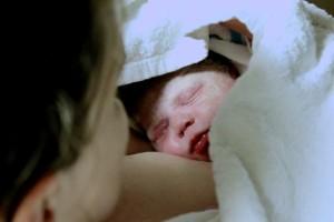 Seanna, 15 minutes old