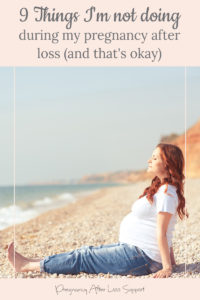 pregnant woman at beach - 9 Things I'm not doing during my pregnancy after loss (and that's okay)
