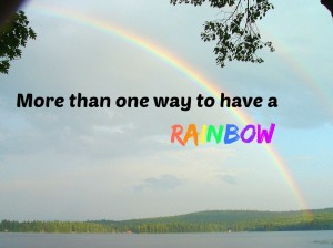More than one way to have a rainbow 1
