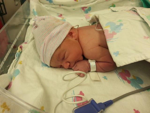 newborn baby getting oxygen