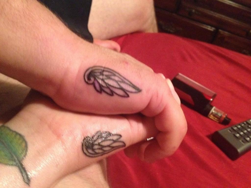 Courtney and Jon's memorial tattoos
