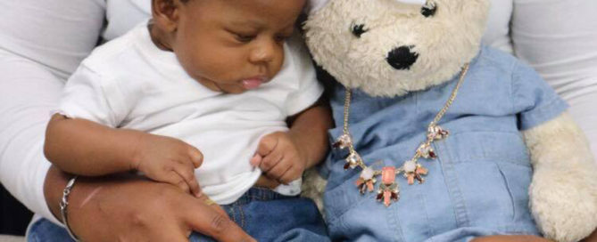 Baby with remembrance bear - I refuse to forget my daughter for your comfort