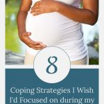 pregnant woman holding belly - coping strategies to focus on during pregnancy after loss