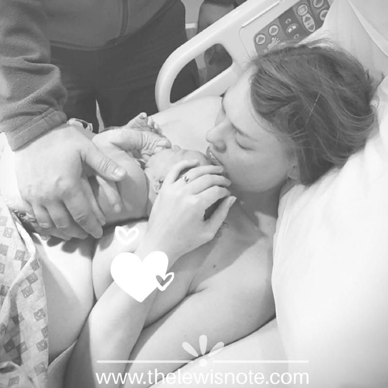 There's nothing like holding your newly born rainbow baby after a pregnancy after loss.