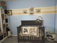 Room at the top of the stairs--the nursery