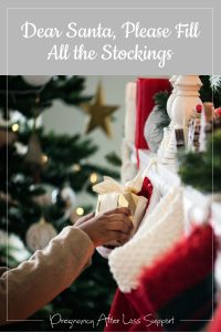Dear Santa, please fill all the stockings