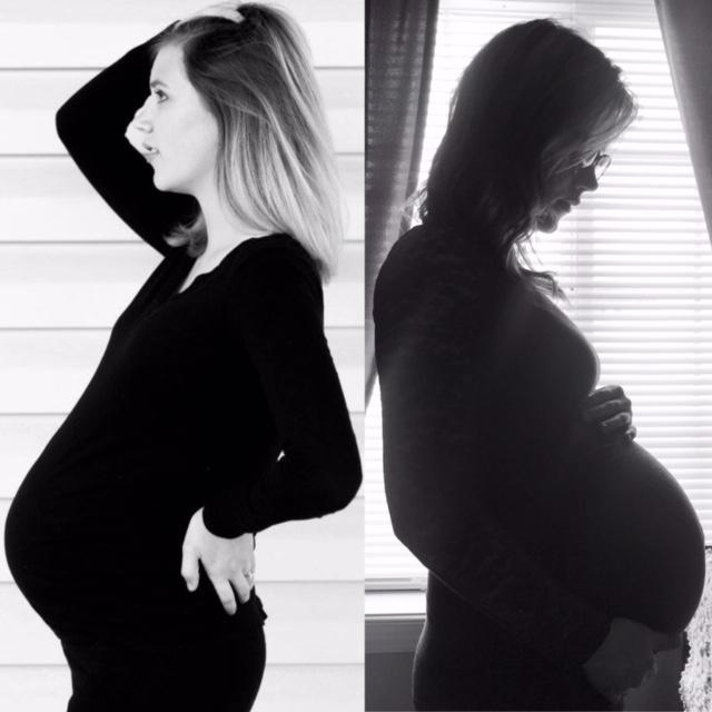 pregnant woman back-to-back - Feeling Déjà vu with my Rainbow