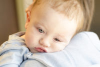 sick baby resting on mama's shoulder - Why do you worry so much?