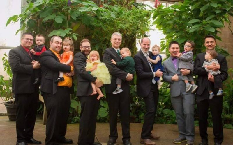group of dads with their rainbow babies - Why Rainbow Baby Dads Give us all the Feels