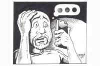 The Pregnant After Loss Dad's Anxiety: An Illustration