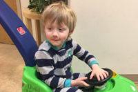 Boy in push car - Loss Mama Fear