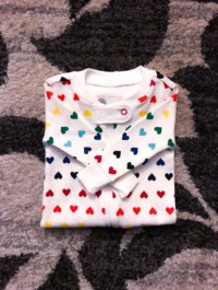 Rainbow Heart Footie Outfit