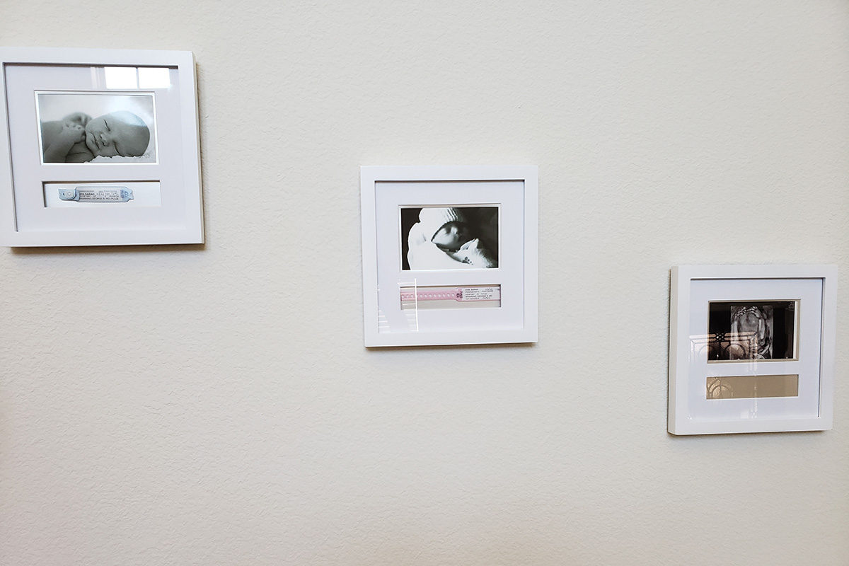 three photos hanging on the wall - the upcoming anniversary