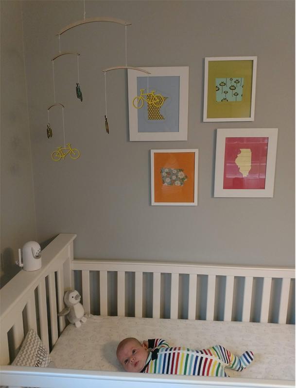 baby Ava in crib