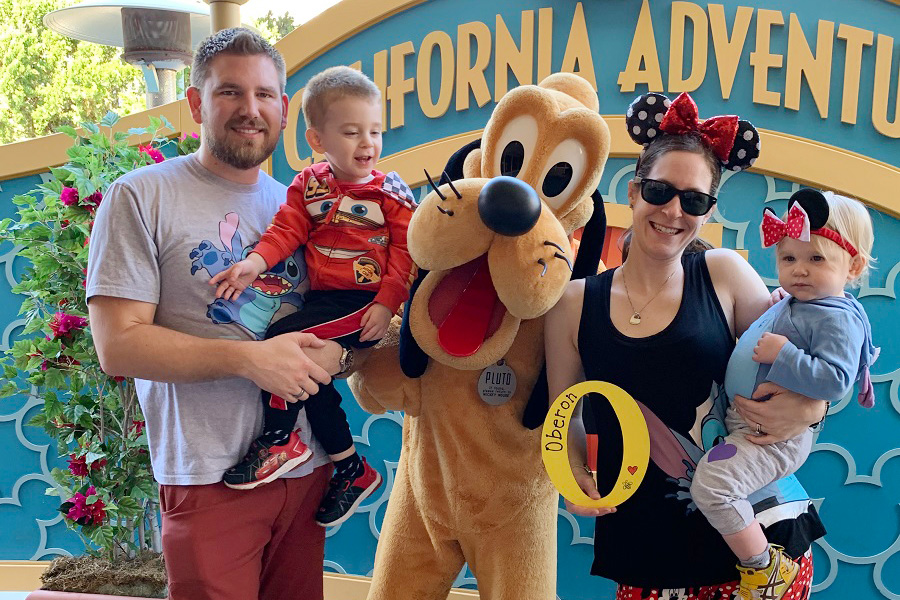At Disneyland with Everett, Imogen, and Obie's O