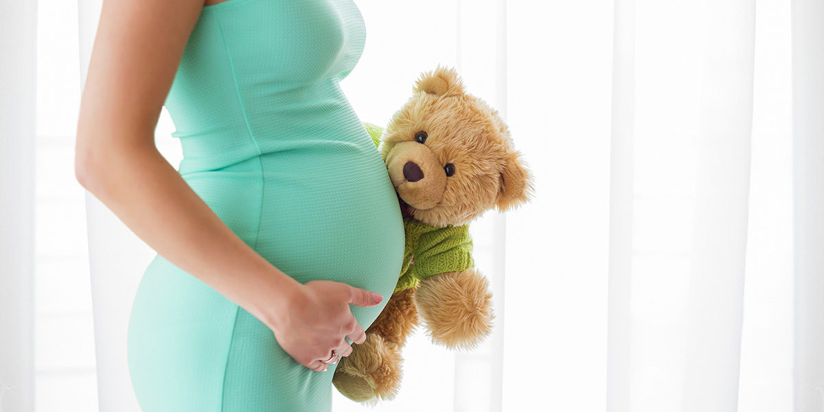 Pregnant mama with teddy bear - Bill of Rights