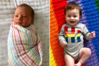 Newborn baby and baby at one - When my rainbow baby turns one