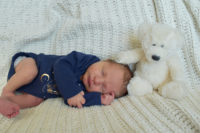 Baby brother with Molly Bear - From my first to my last