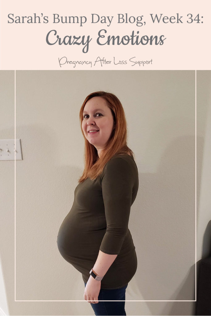 Sarah's 34-week bump - crazy emotions