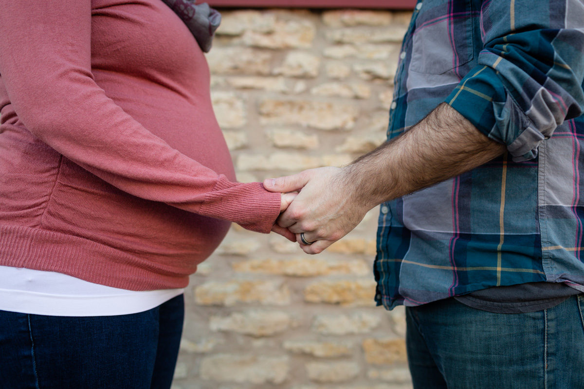 pregnant couple holding hands - I See You, Courageous Father