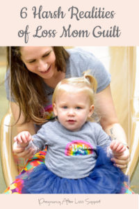 Mom and toddler on slide - 6 Harsh Realities of Loss Mom Guilt