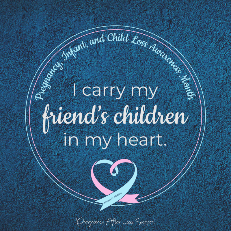 I carry my friend's children in my heart - PAIL Awareness Month