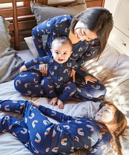 Hanna Andersson Retro Rainbow family pajamas