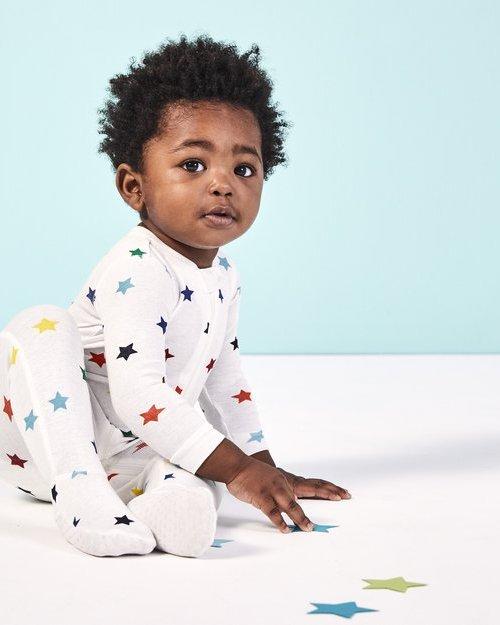primary.com rainbow star footie pajamas