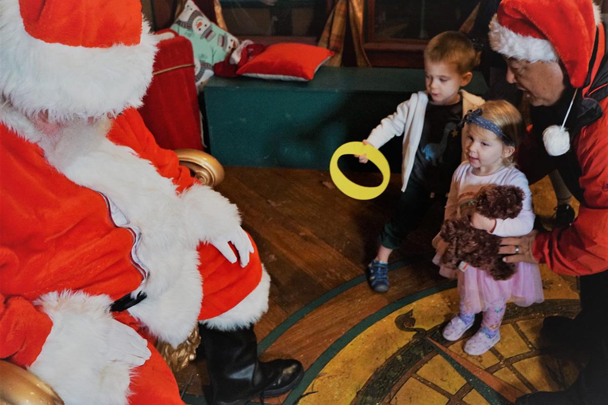 kids with Santa - Managing the holiday season