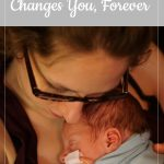 mom holding baby - a baby's death changes you