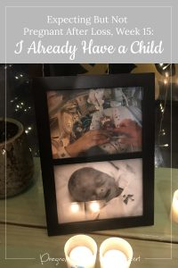 candles and photos of Colette - I already have a child