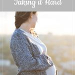 Pregnant woman outside - pregnancy after loss: Taking it Hard