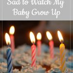candles in cupcakes - WhyI'm not sad to watch my baby grow up