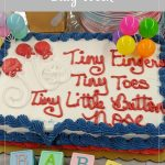 Baby shower cake - Rachel's Bump Day Blog, Week 34: Busy Week