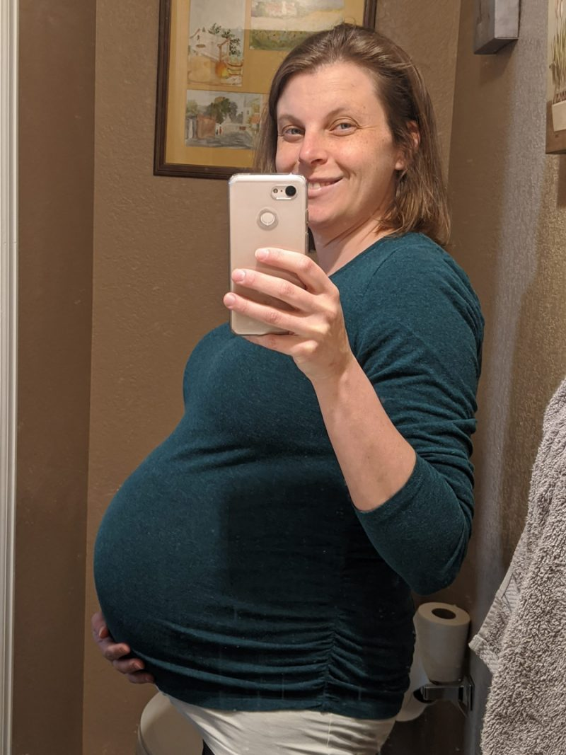 Rachel's 36-week bump - A little more information
