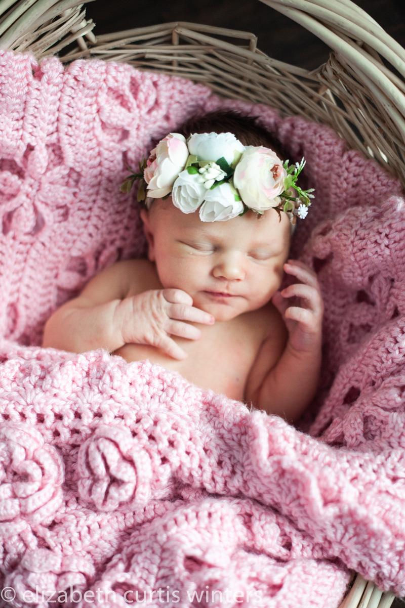 Newborn photo baby in a basket - Taking Your Own Stunning Newborn Photos During Quarantine
