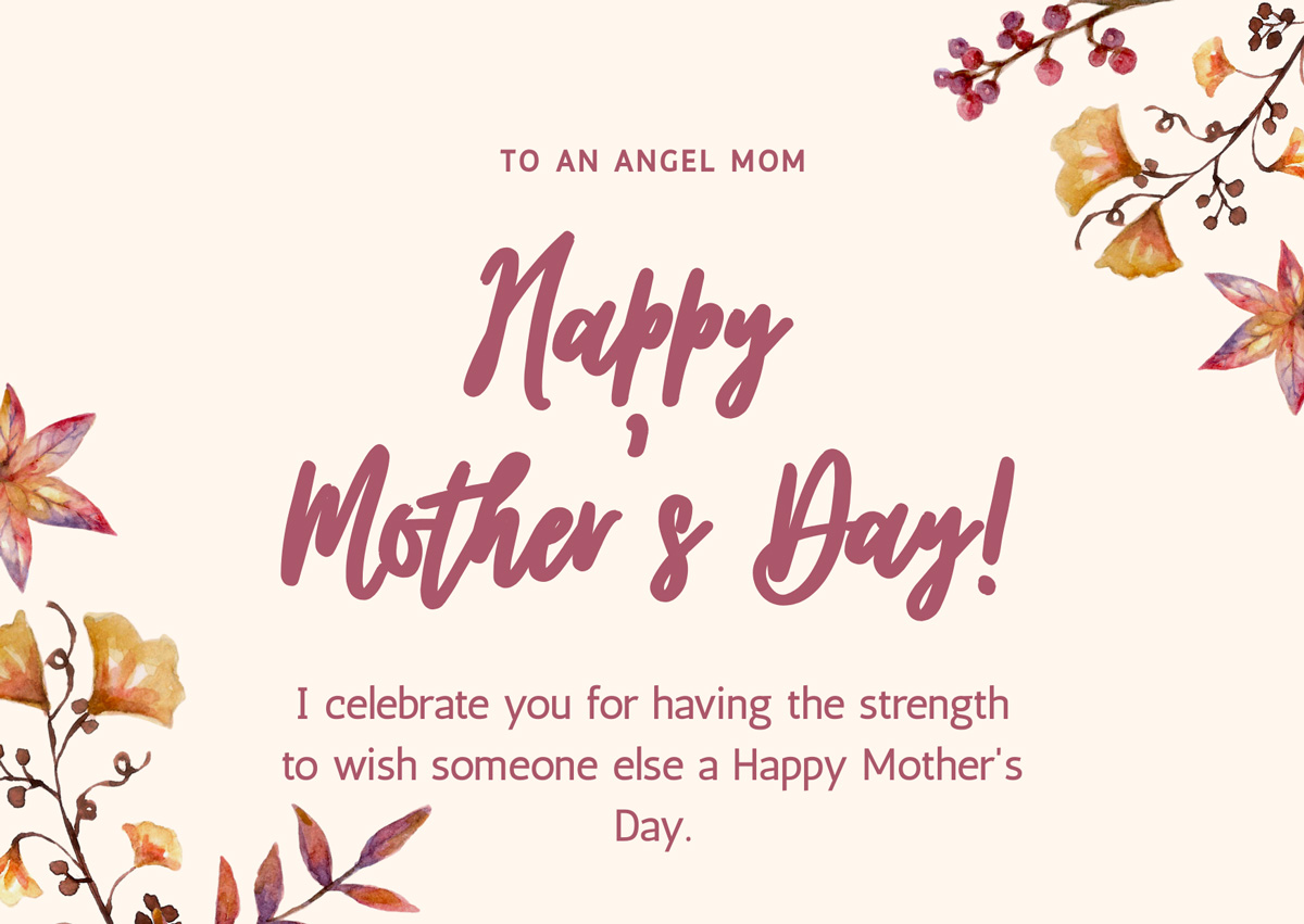 Mother's Day Cards to the Loss Mom from a Loss Mom - to an angel mom