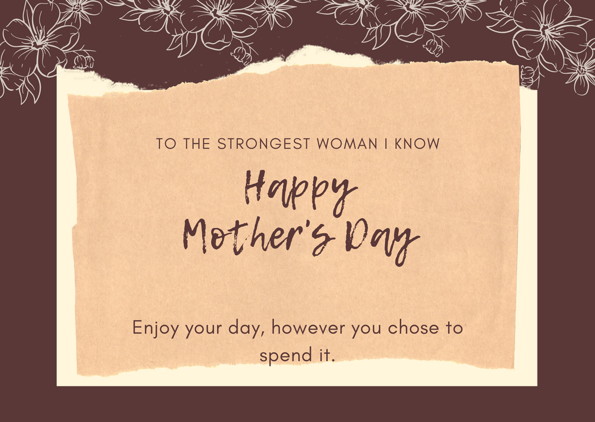 Mother's Day Cards to the Loss Mom from a Loss Mom - to the strongest woman