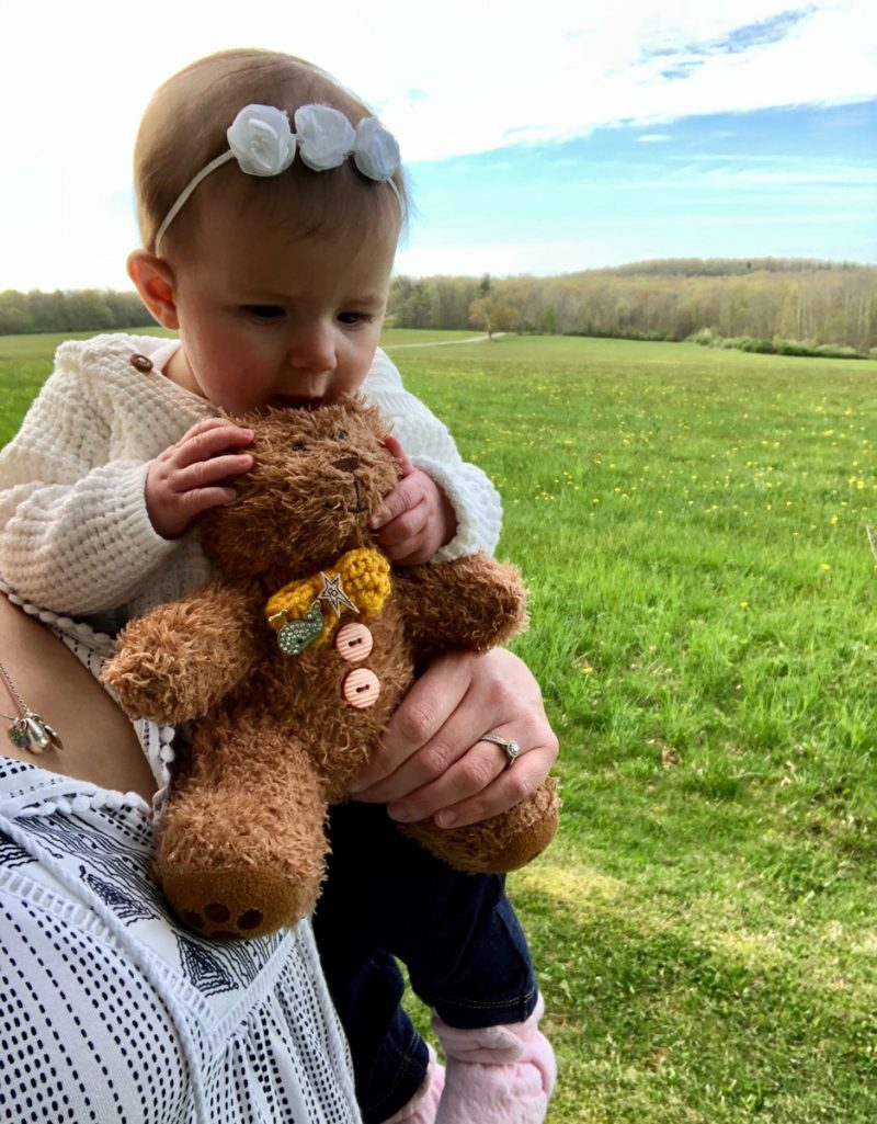 baby and bear - Beautiful Days: When May is Tough After Baby Loss