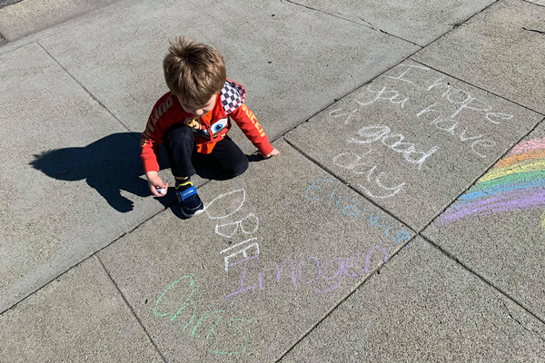 chalk art names - Mother's Day Ideas to Acknowledge a Loss Mom