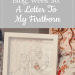 Franky's 30-week bump: a letter to my firstborn