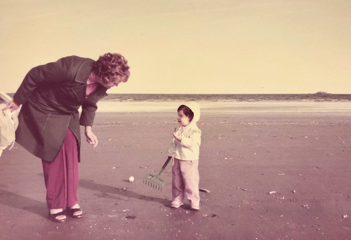 little girl and her grammy at the beach - Advice from Grammy: Let the Small Things Go