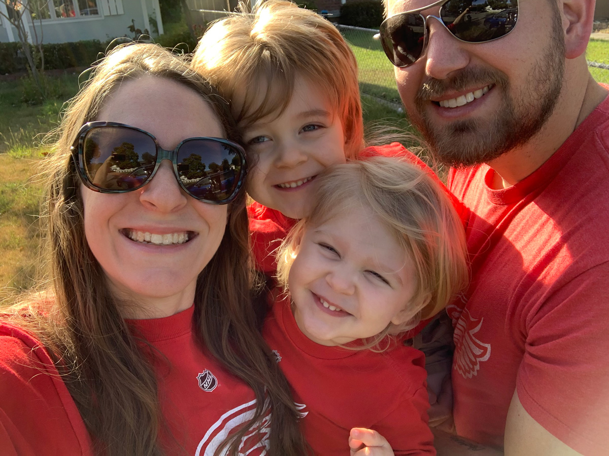Family selfie - Pregnancy After Loss: Almost Perfect