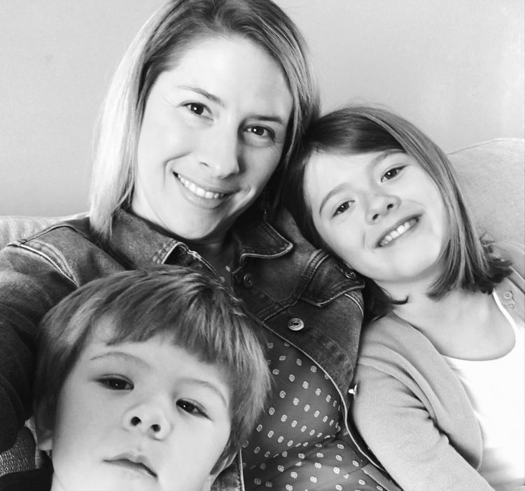 mom with two children - Pandemic Parenting After Loss: Choosing Faith Over Fear