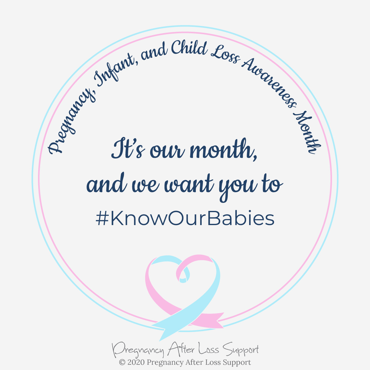 Know Our Babies #KnowOurBabies - Pregnancy, Infant, and Child Loss Awareness Month