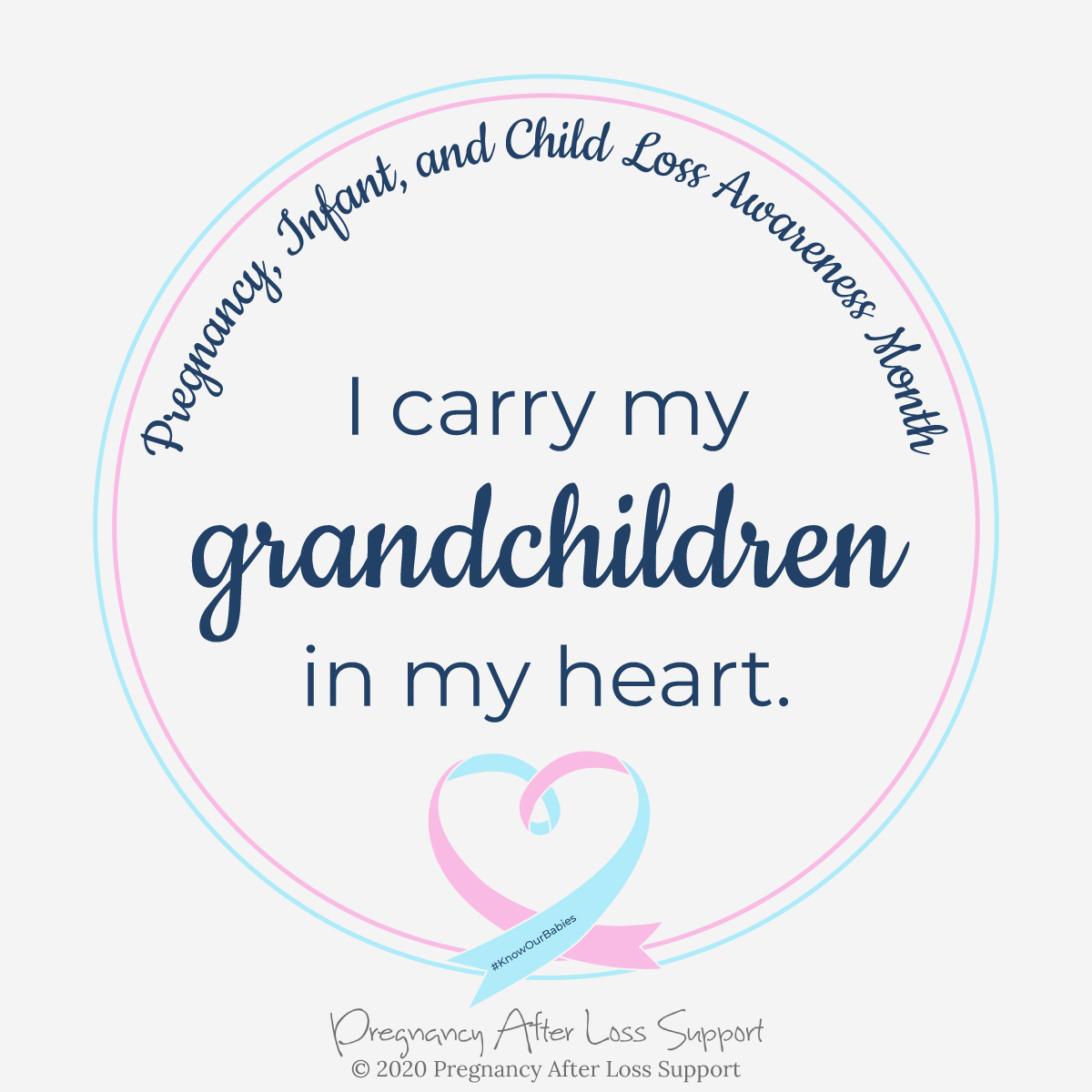 I carry my grandchildren in my heart - Pregnancy, Infant, and Child Loss Awareness Month