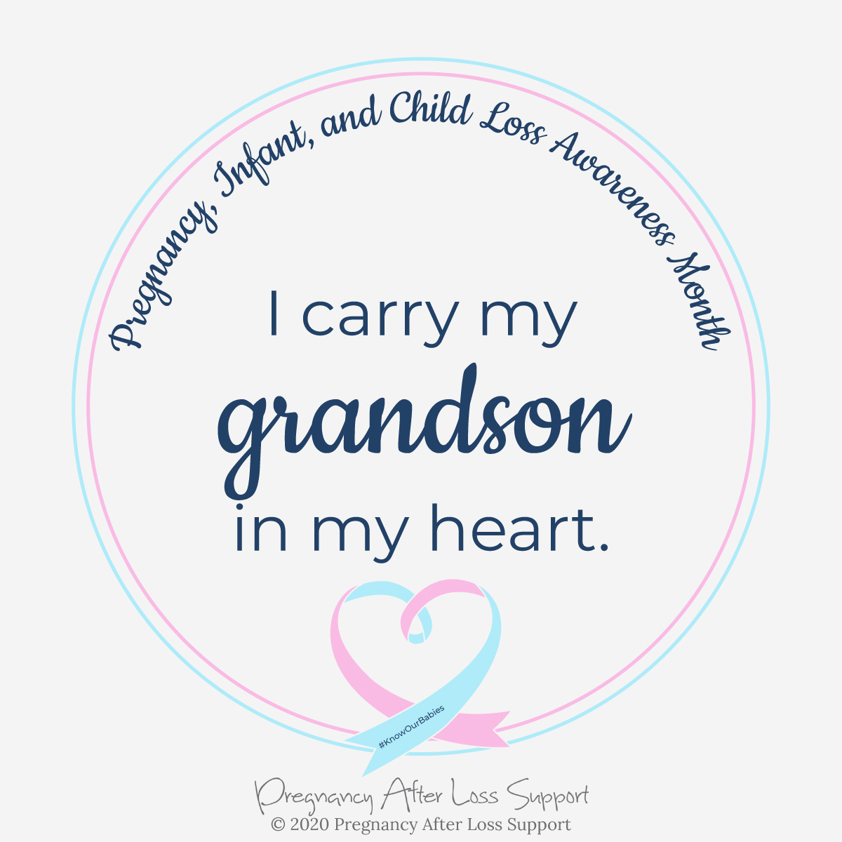 I carry my grandson in my heart - Pregnancy, Infant, and Child Loss Awareness Month