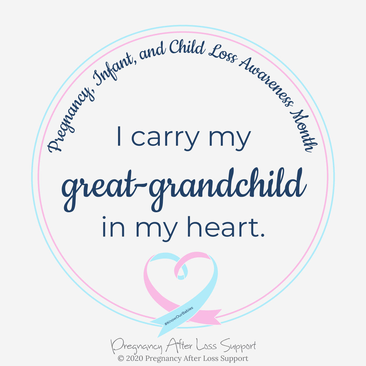 I carry my great-grandchild in my heart - Pregnancy, Infant, and Child Loss Awareness Month